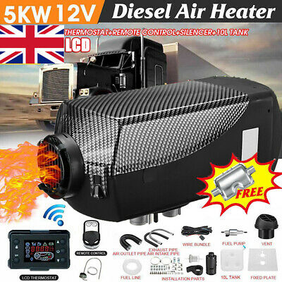 LCD 12V 5000W Monitor Air diesel Fuel Heater 5KW PLANAR For Trucks Bus Boats Car