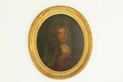 Antique Oil Painting, Young Gentleman, English School, Gilt Frame, 1800s, B641A
