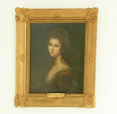 """Antique Oil Painting, Diana McDonald,  """"After Cosway"""",  England 1800s, B1598"""