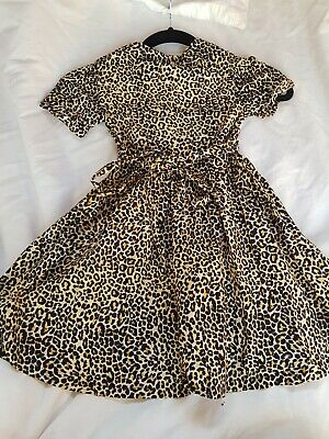 Rock Your Kid Sz 5 Animal Print Dress