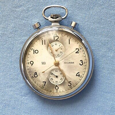Antique Russian NAVY Stopwatch Poljot Chronograph Torpedo Timer & Pocket Watch