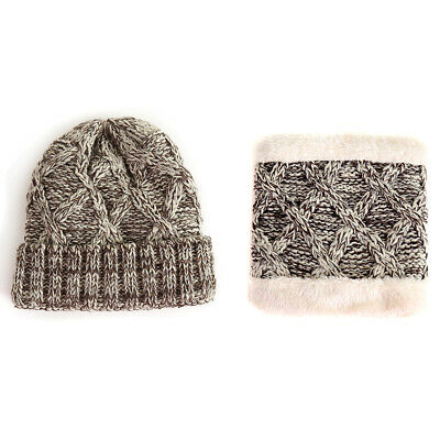 Girls/Boys' Beanie Knitted Hat Scarf Set Winter Warm Thick Thermal Ski Skull Cap