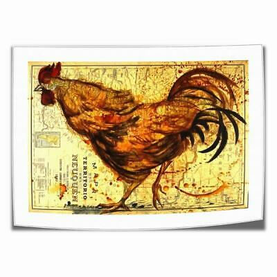 "16""x24""Abstract Rooster Map Paints HD Prints Canvas Home Decor Wall Art Picture"