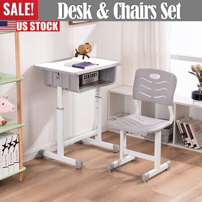 Marvelous Small Computer Desk Chair Set Hutch Study Table Student Kids Gmtry Best Dining Table And Chair Ideas Images Gmtryco