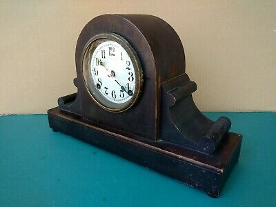 Old Sessions 8-Day T&S Wood Case Tambour Mantle Clock, Restoration Project Parts