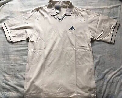 Authentic Vintage Adidas Polo Shirt V Neck Sportswear Oversized Size S