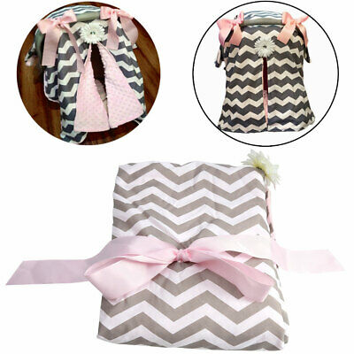 3 In 1 NEW STRIPE BABY WRAP FOR CAR SEAT/STROLLER KIDS BLANKET/COVER/CANOPY/PAD