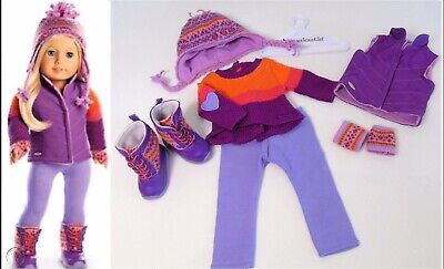 American Girl Doll Warm Winter Outfit AND Warm Winter Accessories IN BOX!