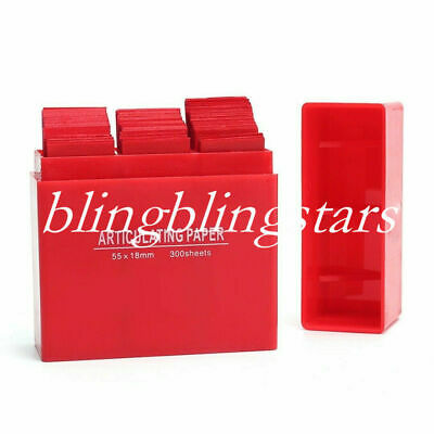 300 Sheets/Box Dental Articulating Paper Lab Product Teeth Care Red Color Strips
