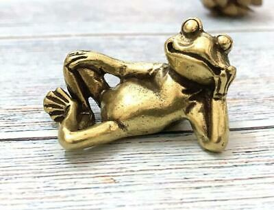 Rare chinese Old Bronze hand Casting Frog statue Netsuke collectable Figure Gift