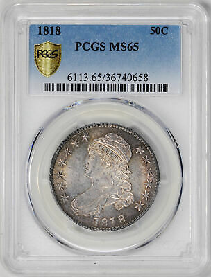 1818 Capped Bust 50C Pcgs Ms 65