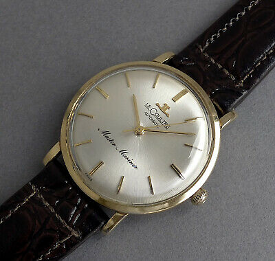 JAEGER LECOULTRE 14K SOLID GOLD MASTER MARINER Automatic Vintage Watch 1960