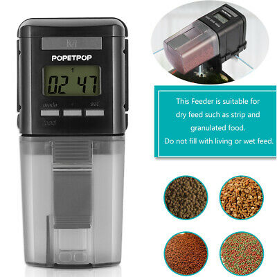 Automatic Fish Food Feeder Pet Feeding Aquarium Tank Pond Auto Dispenser