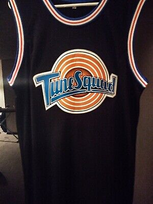 Michael Jordan #23 Space Jam Tune Squad Basketball Jersey Black L Stitched New