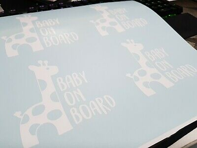 Baby On Board Car Vinyl - Giraffe Baby On Board
