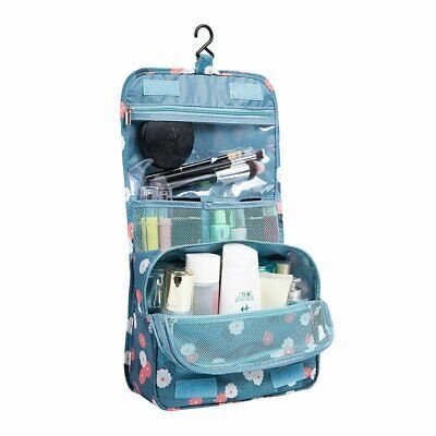 Travel Cosmetic Storage MakeUp Bag Folding Hanging Organizer Pouch Toiletry QV