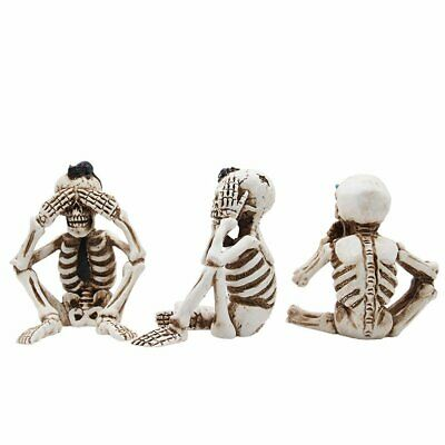 Halloween Resin Skull Decoration Props Creative Truss Three-Piece Decoration Y0