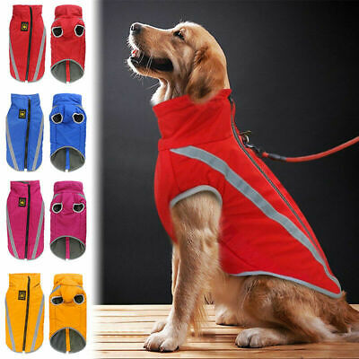 Waterproof Warm Winter Dog Coat Clothes Dog Padded Vest Pet Jacket Medium/ Large