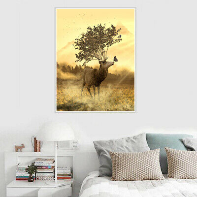 Sika Deer Canvas Poster Wall Hangings Unframed Picture Home Art Decor Gift