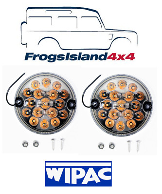 AMR6527LEDSM WIPAC 95mm LED SMOKED INDICATOR PAIR FOR LAND ROVER DEFENDER