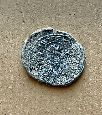 Byzantine lead seal of John imperial protospatharios over the manglavion(11th c)