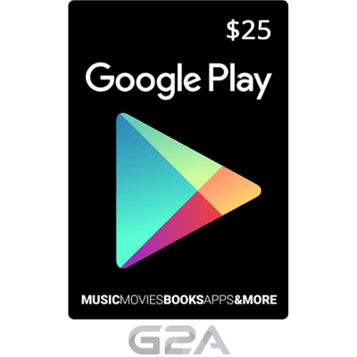 Google Play 25 USD Gift Card - $25 US Dollars Prepaid Card Code [US]