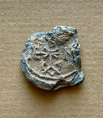 Byzantine lead seal/bleisiegel of Theodoros honorary eparch (7th cent.). Nice!