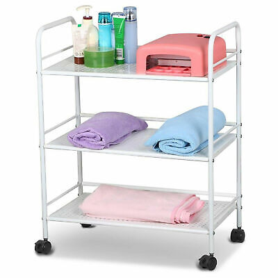 3 Tier Rolling Beauty Salon Spa Trolley Cart Storage Dentist Wax Treatment Hair