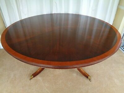 LARGE 6ft ROUND MAHOGANY DINING TABLE / ANTIQUE STYLE / BEVAN & FUNNELL