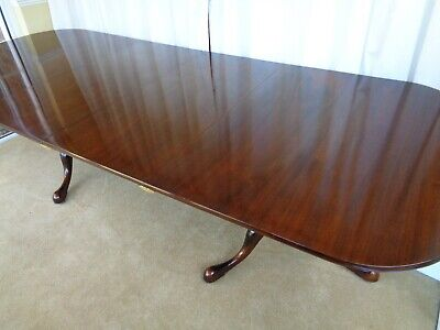 LARGE 9ft WILLIAM TILLMAN EXTENDING MAHOGANY DINING TABLE ANTIQUE STYLE