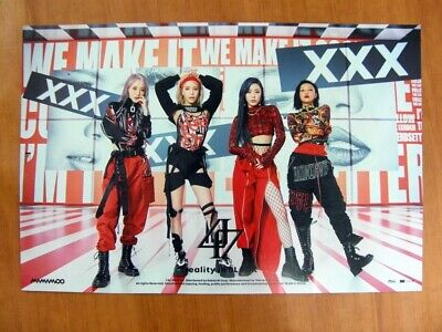 MAMAMOO - reality in BLACK (Ver. C) [OFFICIAL] POSTER K-POP *NEW*