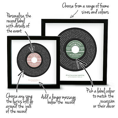 "Personalised Jack Johnson ""Better Together"" Song Lyrics Music Print Vinyl Record"