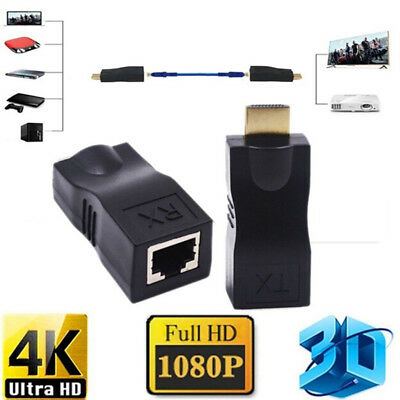 4K 1080P 3D hdmi extender to rj45 over cat 5e/6 network LAN ethernet adapter P^S