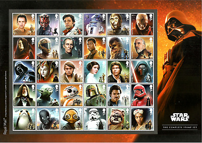 Gb 2019 Star Wars Droids Aliens  Space Films Complete Sheet Mnh