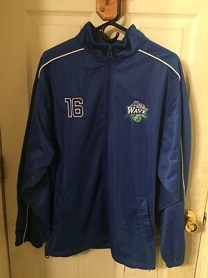 SCORE!! Adult Athletic Zip Up Jacket Size Large Waterford Wave Girls Basketball