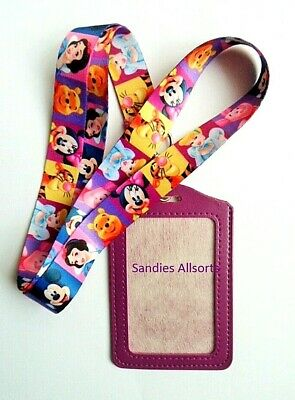 Disney Characters Lanyard Neck Strap + ID / Credit Card / Business Card Holder