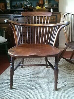 A Good Victorian Windsor Armchair with Wide  Seat Thames Valley