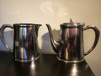 Mappin  and Webb army officers mess silver plated coffee pot and milk jug marked