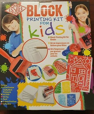 Essdee Block Printing Kits For Kids - LINO - STAMPS - FAST and FREE POST