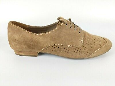Clarks Active Air Light Brown Suede Leather Lace Up Shoes Uk 4.5 D Worn Once