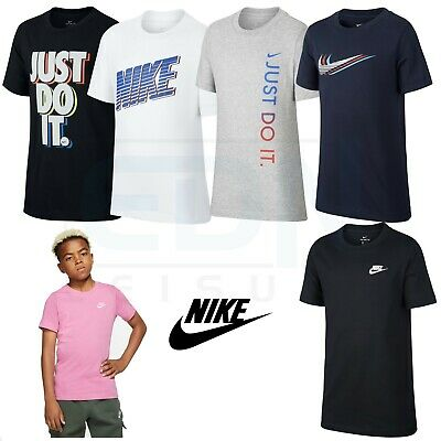 Boys Nike T Shirts Kids Tops Junior Short Sleeve Tee Age 8 9 10 11 12 13 14 15 -