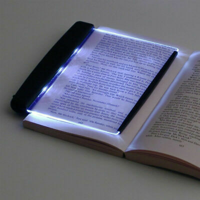 Portable LED Book Shaped Reading Lamp Panel Booklight Night Light Night Vision