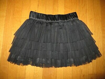 H&M Divided juniors girls black tulle tiered skirt Christmas holiday party sz 2