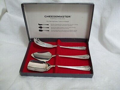 Vtg Silver Plate EPNS Sheffield Cheesemaster Cheese Serving Set in Original Box