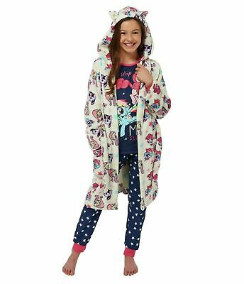 My Little Pony Girls Pyjamas Pjs & Fleece Hooded Robe Dressing Gown 11-12 Years