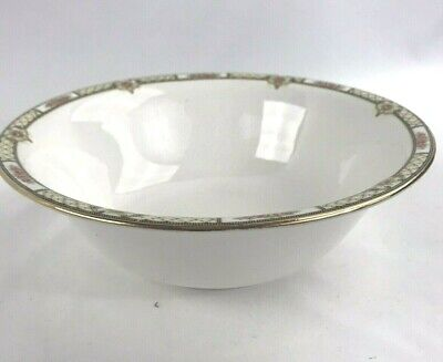 "Homer Laughlin china, Rose and Lattice Empress, 8"" Round Vegetable serving bowl"