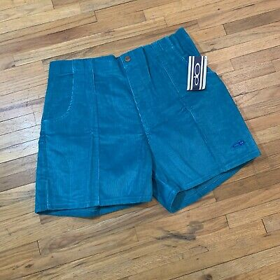 Vintage NWT Ocean Pacific Rare Teal Corduroy Shorts Size 40