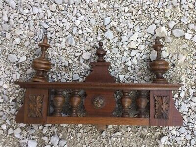 Antique wood Regulator finial Clock Top French pediment furniture bed German