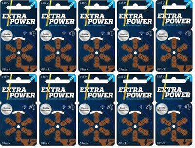 ExtraPower hearing aid batteries (Size 312) - 10 cards (60 cells).