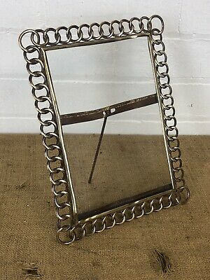 Arts & Crafts Chain Frame Bronze Brass Art Nouveau Photo Frame
